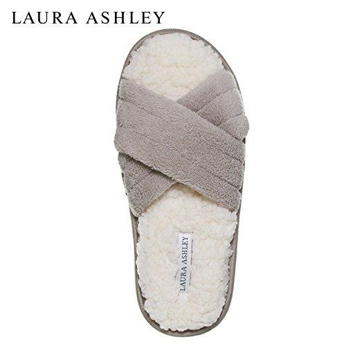 Laura Kvinna Ashley Damer Lyx Spa Tvärband Minne Skum Tofflor (se Fler Färger Och Storlekar) Croissant