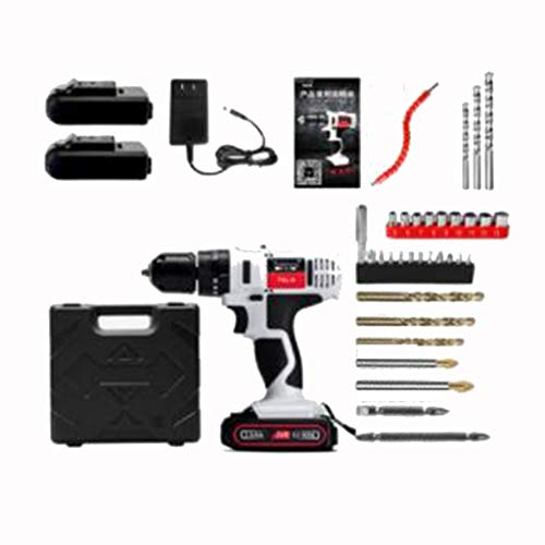 24V Electric Screwdriver Tool Home Multi-function Electric Turn Impact Lithium Electric Pistol Drill (Color : C)