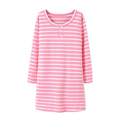 Teen Girls' Princess Nightgowns Bowknot Sleep Shirts Holiday Nightshirt Pink 14