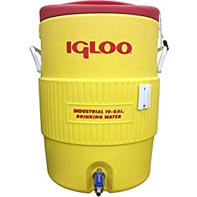 Quick Fit Igloo Mash Ton with Stainless Steel False Bottom & Valve, 10 gallon
