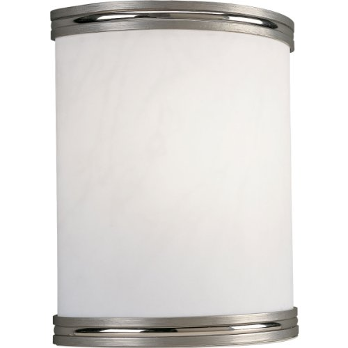 Progress Lighting P7083-09EBWB 1-Light Energy Star Wall Sconce with 120 Volt Normal Power Factor Electronic Ballast, Brushed Nickel