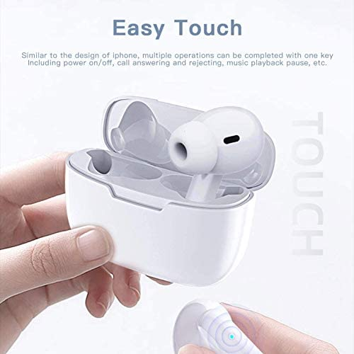Bluetooth 5.0 Wireless Earbuds Headsets Bluetooth Headphones 【24Hrs Charging Case】 IPX6 Waterproof 3-D Stereo Pop-ups Auto Pairing Fast Charging for iPhone/Android AirPro Pro 3