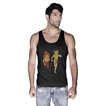 Creo Adnan Super Hero Tank Top For Men - M, Black