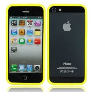 Simplicity TPU Bumper Frame Case for iPhone 5 Yellow