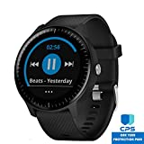 Beach Camera Garmin Vivoactive 3 Music GPS Smartwatch Granite Blue + Rose Gold (010-01985-31) with 1 Year Extended Warranty