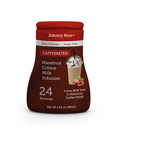 Johnny Moo, Milk Flavoring Drops, 1.62oz Bottle (Pack of 3) (Choose Flavors Below) (Hazelnut)
