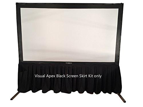Visual Apex Portable Projector Screen Black Presentation Screen Skirt Kit