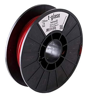 Taulman 3D, 3mm t-glase PETT CoPolymer Red (1 lb), tgr3