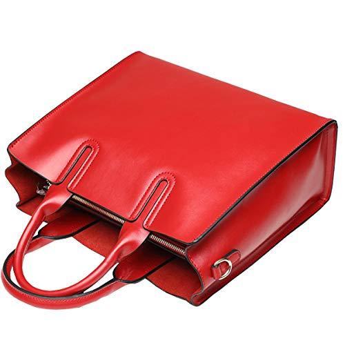 Messenger Sac Dames Bag Simple En Cuir Napa Leather Rouge Grande Cuir à Capacité 2018 Grand à Sac HJLY Sac Main En Bandoulière wHY4q