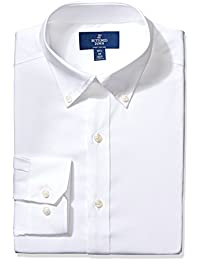 Men's Fitted Solid Non-Iron Dress Shirt (3 Collars...