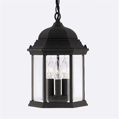Designers Fountain 3 Light Height Devonshire Outdoor Pendant, Black 2984-BK by Designers Fountain