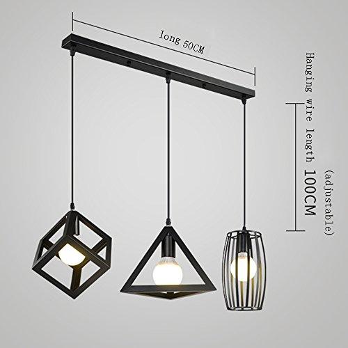 GLJXG Lámpara de techo Lámpara Chandelier Nordic Iron Arts ...