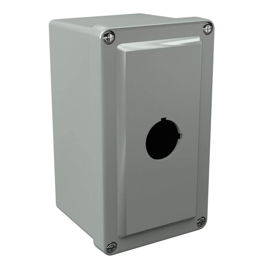 Attabox Commander CO1PB22 22mm Pushbutton Enclosure 6 x 4 x 4 inches 1 Hole