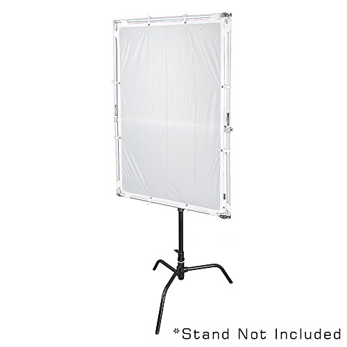 Pro Studio Solutions 100cm x 150cm (39.5in x 59in) Sun Scrim - Collapsible Frame Diffusion & Silver/White Reflector Kit with Handle and Carry Bag