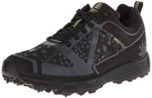 Icebug Women's DTS Dri BUGrip Running Shoe,Black/Charcoal,7 M US