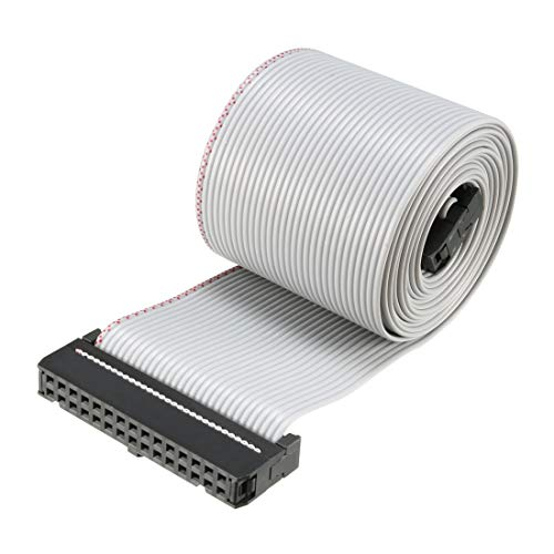 uxcell IDC 30 Pins Wire Flat Flexible Gray Ribbon Jumper Cable 128cm 2.54mm Pitch,1pcs ()