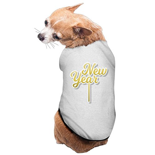 WUGOU Dog Cat Pet Shirt Clothes Puppy Vest Soft Thin New Year 3 Sizes 4 Colors Available ()