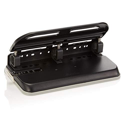 Swingline 2-7 Hole Punch, Semi-Adjustable, Heavy Duty Hole Puncher, Easy Touch, 24 Sheet Punch Capacity, Black -
