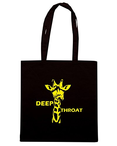 T-Shirtshock - Bolsa para la compra FUN1167 deep throat Negro