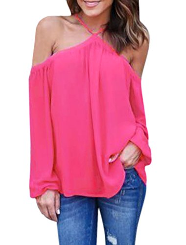 uxcell Halter Shoulder Sleeves Chiffon