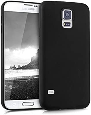 kwmobile Funda Compatible con Samsung Galaxy S5 / S5 Neo - Carcasa de TPU Silicona - Protector Trasero en Negro Mate: Amazon.es: Electrónica