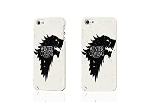 Paradise Life Design Game of Thrones Winter is Coming Stark Vintage Art Snap on Durable Rubber Laser 3D Rough Case Skin, fashion design image custom , durable hard 3D case cover for iPhone 5C , Case New Design By Codystore