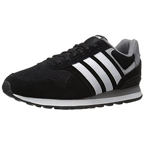 adidas Performance Men's Runeo 10k-m Running Shoe, Black/White/Matte  Silver, 11 M US