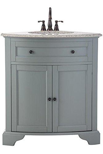 hamilton corner bath vanity 35hx31wx23d grey