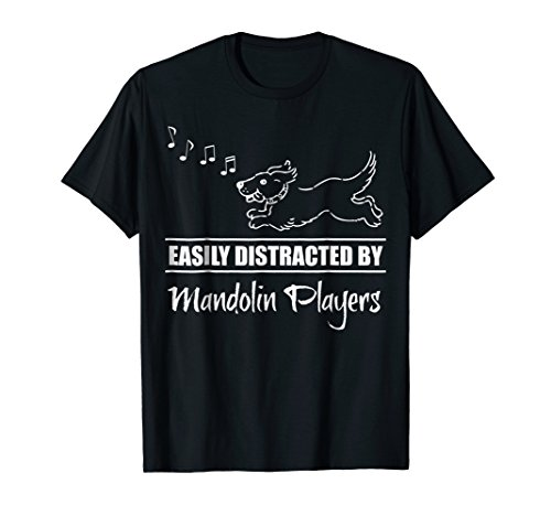 Cute Dog Easily Distracted by Mandolin Players T-Shirt