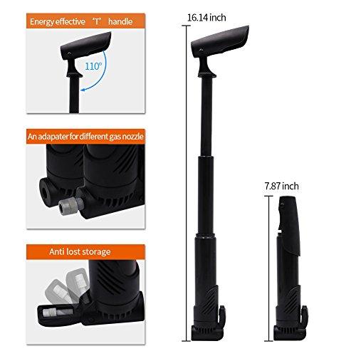 AQQEF Bike Repair Kit, Bicycle Repair Kits Bag With Portable Bike Pump  16-In-1 Bike Multi Tool Kit Sets by AQQEF (Image #4)