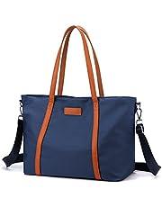 Laptop Bag Waterproof Lightweight Tote Bag for Women Nylon Briefcase Computer Work Shoulder Handbag Fits 15.6 inch Laptop