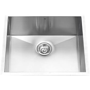 this item vigo 23 inch undermount single bowl 16 gauge stainless steel kitchen sink. Interior Design Ideas. Home Design Ideas
