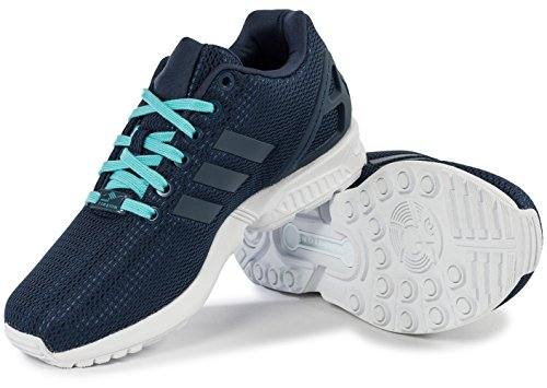 adidas Damen ZX Flux Sneakers, Schwarz Dunkelblau