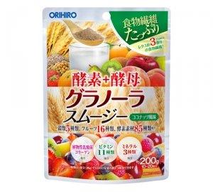 【10個セット】 オリヒロ 酵素+酵母 グラノーラスムージー 200g B0144C9G18