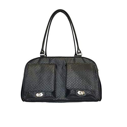 Black Woven Marlee Dog Bag
