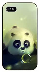 iPhone 4 / 4s Funny china panda - black plastic case / Nature, Animals, Places Series by icecream design