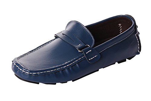 UJoowalk Mens Classic Fashion Casual Penny Slip-On Driving Dress Boat Loafer Shoes (Classic Moc Slip)