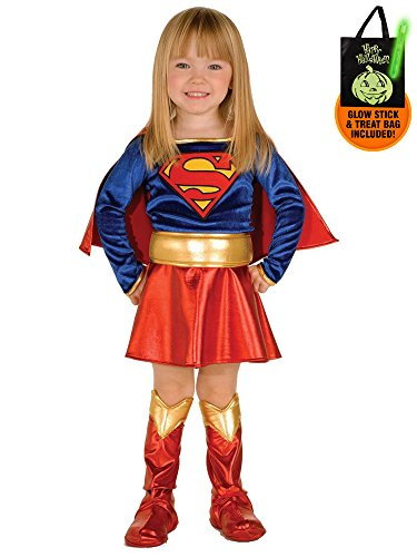 Toddler's Supergirl Costume Treat Safety Kit