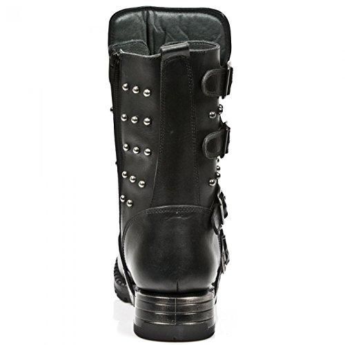 New Rock Boots M.mr019-s1 Urban Biker Hardrock Herren Stiefel Schwarz
