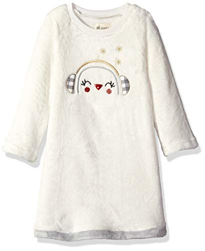 Petit Lem Girls' Little Holiday Nightgown, Comfortable, Cute and Cozy Softness, Off Off White -