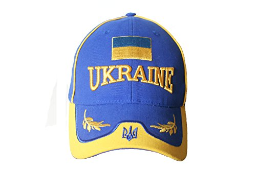 Ukraine Blue Yellow Country Flag Embroidered Hat Cap .. VIVA Souvenirs .. .. New