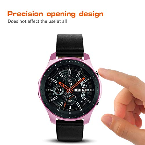 Huangou ❤❤ Smart Watch TPU Cover ❤ Ultra-Thin TPU Plating Protection Case Cover for Samsung Galaxy Watch 46mm (Pink, Free) by Huangou (Image #3)