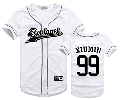 EXO Seoul Concert Same Style T-Shirt Baekhyun Sehun Xiumin Hip-hop Shirt M XIUMIN