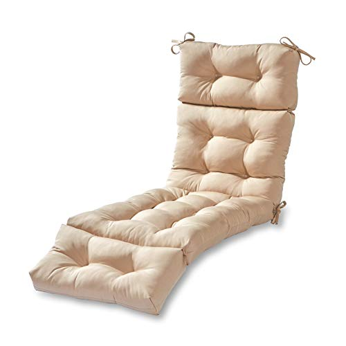Best outdoor chair cushion: MISC 72″ Lounge Cushion Stone Cream Outdoor 6ft Patio Chaise Pad