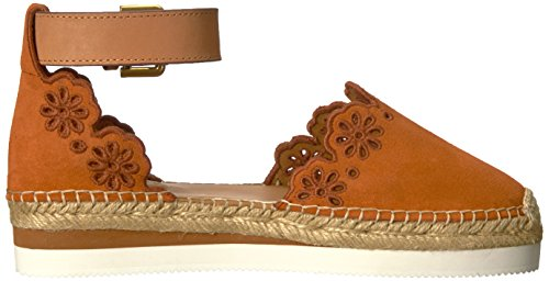 Vedere Da Chloe Womens Glyn Flat Espadrille Floral Medium Orange