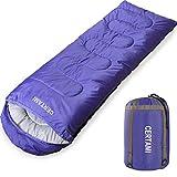 CERTAMI Sleeping Bag -Envelope Lightweight Portable Waterproof,for Adult 3 Season Outdoor Camping Hiking. (Purple/Right Zipper)