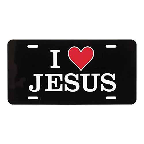 Dicksons I Heart Jesus 12 x 6 Inch Metal License Plate