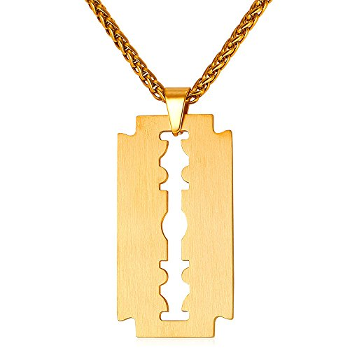 U7 Necklace Stainless Plated Pendant
