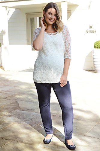 Elizabeth Brown Maternity Damen Skinny Hose blau marineblau
