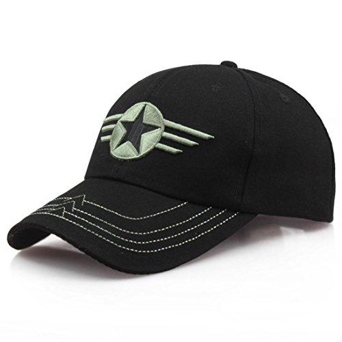 Cap Baseball Silk (WILLTOO Summer Cap Men Women Star Embroidered Casual Hats Baseball CapsStar-B)